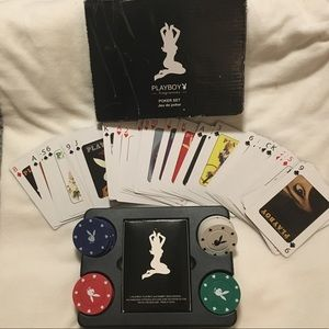PLAYBOY poker set - bunny chips and cover cards